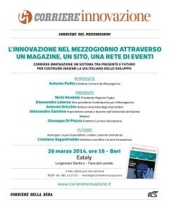 2014.03.26 - Bari (Corriene.Innovazione - l'innovazione ne mezzogiorno attraverso un magazine, un sito, una rete di eventi)